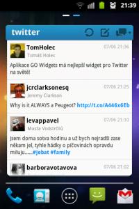 Úžasný widget pro Twitter.