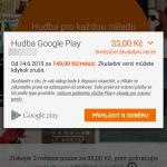 Velká sleva na Google Play Music